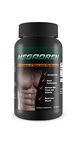 Megadren- The Science Of Size and Performance- Muscle Builder and Stamina Supplement- Increase Power and Build Lean Muscle- Dietary Suppment- 60 Capsules
