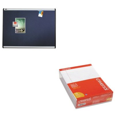 KITQRTMB543AUNV20630 - Value Kit - Quartet Prestige Plus Magnetic Fabric Bulletin Board (QRTMB543A) and Universal Perforated Edge Writing Pad (UNV20630) by Quartet