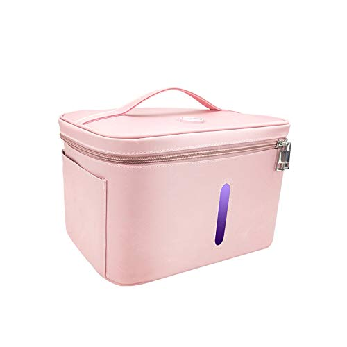 Awesome Automatic Sanitizer Machine TTLIFE UV Sterilizer Bag Disinfection Sterilization Cleaner Sanitizer Box, Portable, Healthy, USB Rechargeable, 12 UV Lamp Bulbs, for Hose/Toothbrush/Water Reservoir/Toys/Underwear/etc. (Pink) 2019