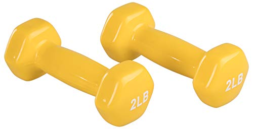 AmazonBasics Vinyl 2 Pound Dumbbells - Set of 2, Yellow (B07FNXDYR4) Amazon Price History, Amazon Price Tracker
