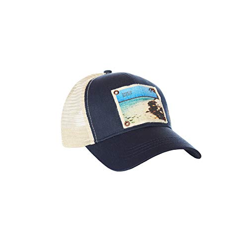 (Ranch Bucket Snapback Trucker Hats for Men Womens - Navy | South Water Caye Adventure Hiking Camping Mesh Cap)