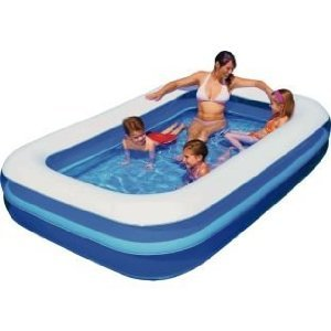 Giant Rectangular Swimming Paddling Pool Family Size 79x 59x 20 By Gift Home