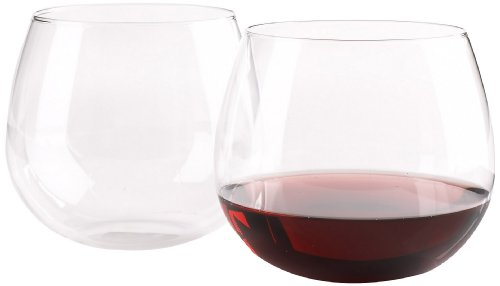 Wine Enthusiast U Pinot Noir Stemless Wine Glasses, Set of 2