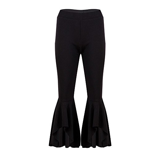 Mambain Pantalone Unita Pantaloni Tinta Alla Nero 8 Svago 7 Eleganti Moda Baggy Donna Balze FvSFrq7