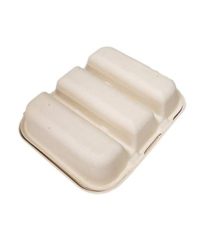 Pulp Fiber Disposable Take Out Taco 3 Compartment
