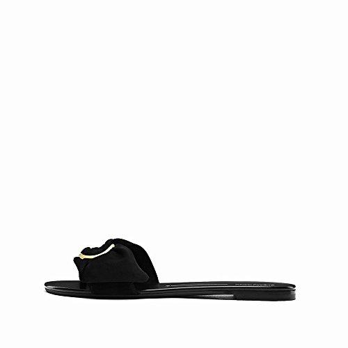 DIDIDD 36 Couleur Femmes Plates Chaussures Ré Arc Sandales Été Pur Pantoufles Toe Ouvert 7xf7r4n