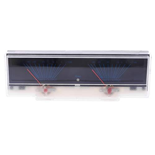 Shoresu Power Amplifier Panel Dual Analog VU Meter Audio Level dB Meter with Backlit