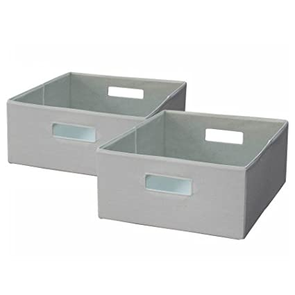 Better Homes And Gardens Half Size Storage Bin, Set Of 2, Cream
