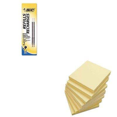 KITBICMRC21BEUNV35668 - Value Kit - BIC Refill for Velocity (BICMRC21BE) and Universal Standard Self-Stick Notes (UNV35668) (Sticky Bic Notes)