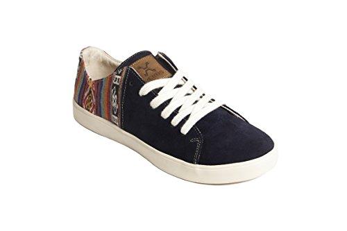 pour Éthiques Marine Fabriquées Chaussures Traditionnels Péruviens Gamuzon Hommes Sneakers À Motifs Bleu Main La Artisanales Daim Perús et en Femmes et À qO1t1wp