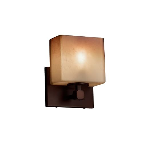 Justice Design Group Rectangular Sconce (Justice Design Group Lighting FSN-8427-55-CRML-DBRZ-LED1-700 Tetra Ada 1 Rectangle Shade LED Light Wall Sconce, Dark Bronze)