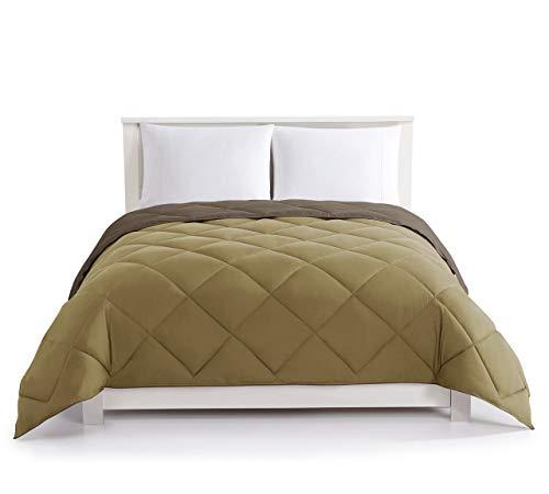 KingLinen Chocolate/Taupe Down Alternative Reversible Comforter Full/Queen