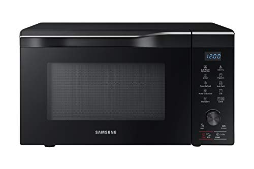 Samsung MC11K7035CG 1.1 cu. ft. Countertop Power Convection Microwave Oven with Sensor and Ceramic Enamel Interior, Black Stainless Steel (Renewed)
