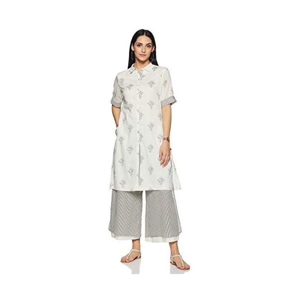 BIBA Women's Cotton a line Salwar Suit Set