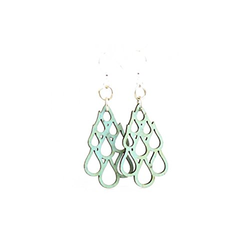 (Green Tree Jewelry Raindrop Blossom Earrings with Gift Box)