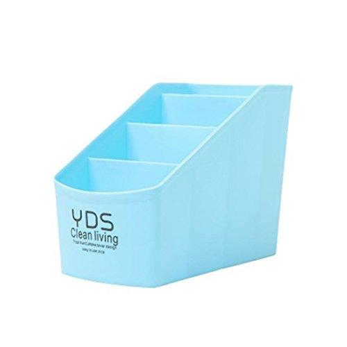 YJYdada Plastic Organizer Storage Box For Tie Bra Socks Drawer Cosmetic (Sky - Tote Jumbo Air