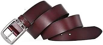 كولر فاير حزام جلد صناعي بني -رجال