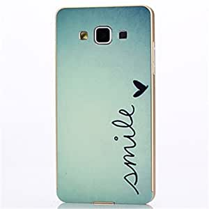 GDW Teléfono Móvil Samsung - Cobertor Posterior/Contra Golpes - Gráfico/Dibujos Animados/Diseño Especial - para Samsung Galaxia A5 ( , Silver