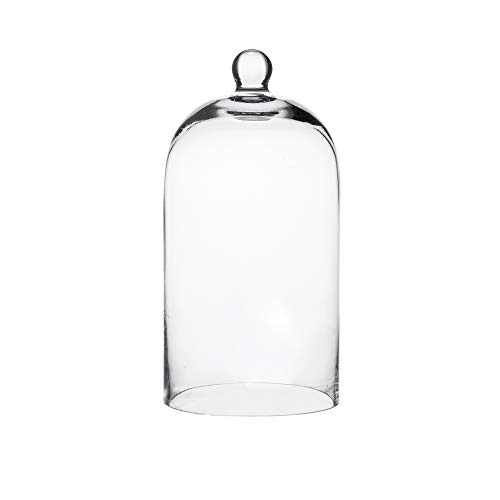 Whole Housewares Clear Glass Bell Jar Dome-Glass Cloche-Glass Dome Size: D7 X H14.5