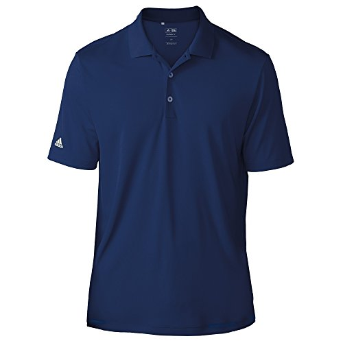 Mens Climacool Pique Polo Shirt - adidas Teamwear Mens Lightweight Short Sleeve Polo Shirt (S) (Navy)