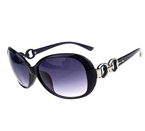Fashion?Life Women Shades Oversized Eyewear Classic Designer Sunglasses UV400-Shining Black&Grey from Fashion?Life