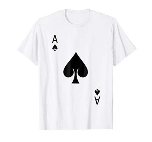 Ace of Spades Shirt Halloween Costume Playing Card Men Women]()
