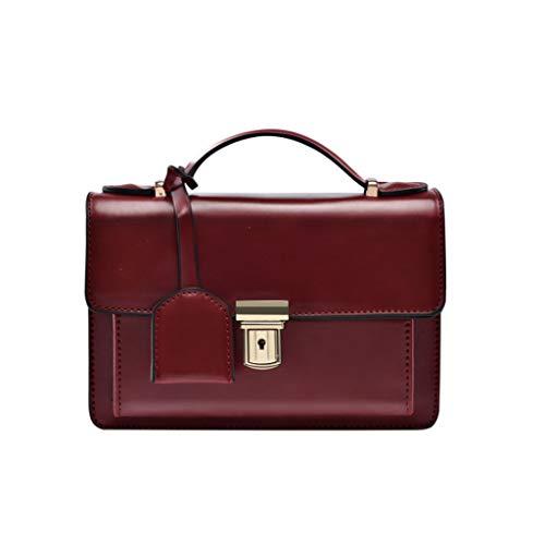 Nj Tamaño Retro Cuadrado Pequeño 4 Bolso Negro 19x14x9cm Chain Rojo color De Wild Bag Bolso Simple Messenger Oxford La Bolsa Vino 9cm Colores 14 Mujer Tela 19 rrqPgvBZw