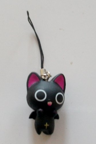 "1"" The Gothic World Nyanpire Cat Mascot Cell Phone Accessory Charm Strap from Anime"