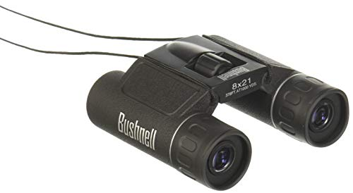 Bushnell Powerview 12x25 Compact Folding Roof Prism Binocular (Black) ()