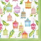 Ideal Home Range 20-Count Rosanne Beck Paper Cocktail Napkins, Blue Garden by Boston International