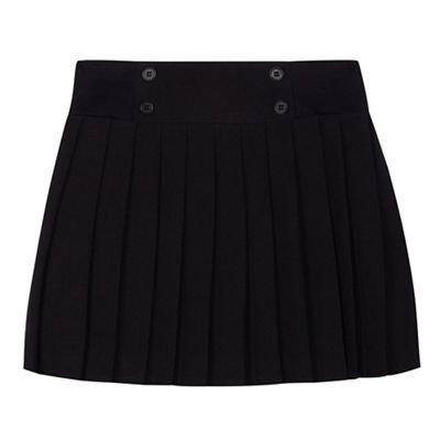 Debenhams Girls' Black Pleated School Skirt Age 3-16 Years