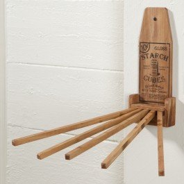 Wood Laundry Drying Wall Rack