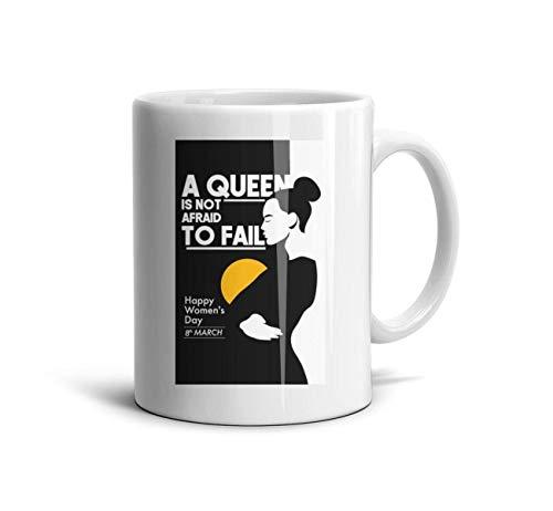 - asvvvee International Women's Day a Queen is not Afraid to Fail Poster Coffee Mugs Restaurant Coffee Mugs Motivational Mug, Fun Mugs, Funny Gift