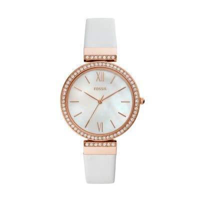 Fossil Madeline ES4581 - Reloj de Pulsera para Mujer (Piel Blanca, Tres Manos)
