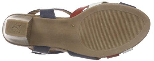 Caprice 28307 - Sandalias de tobillo Mujer Azul - Blau (OCEAN COMB 880)