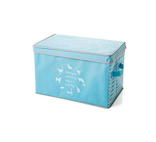 (Clothing Toy Storage Box Divider Clothes Box Sundries Organizer Cosmetic Makeup Container Closet Boxes can be Folded Combination,Blue)