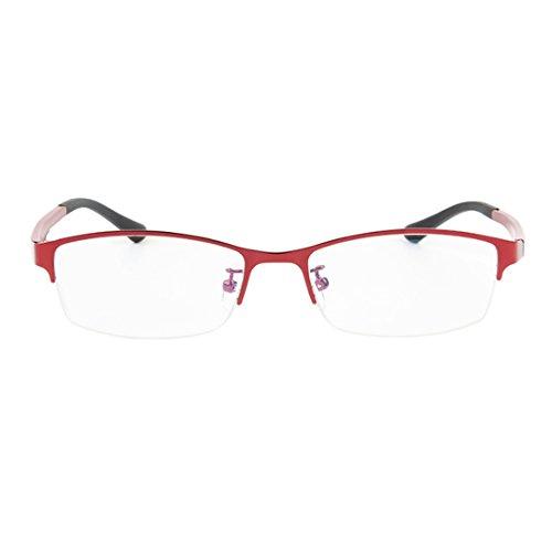 demi Rouge lunettes lentille résine en cadre Mâle myopes Femme mode métal rétro lunettes Inlefen trame en ZHqYUt7