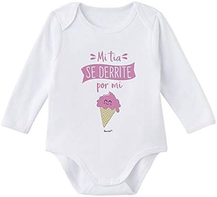 SUPERMOLON Body bebé manga larga Mi tía se derrite por mi Blanco ...