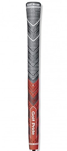 Golf Pride MCC Plus4 New Decade MultiCompound Golf Grip, Standard, Red/Gray