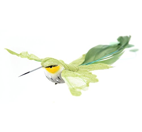 Touch of Nature Olive Lace and Feather Open Wing Hummingbird 7.5-Inch with -