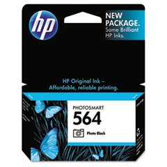 HP 564 Black Photo Original Ink Cartridge, 2 pack (CB317WN)
