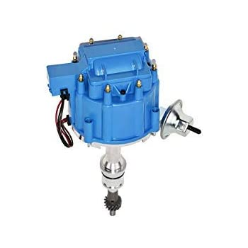 SBF Small Block Ford 351W Windsor HEI Distributor Blue Cap /& Moroso Wire Kit