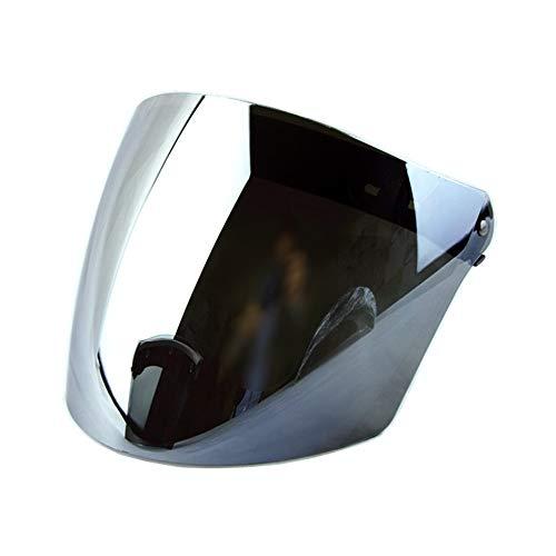 Wancar 3-snap Retro Helmet Shield Lens Motorcycle Open Face Helmet Vintage Flight Helmet visor (Mirrored)