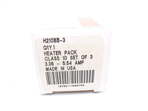 NEW CUTLER HAMMER H2108B-3 SET OF 3 3OVERLOAD HEATER ELEMENTS 3.38-5.54A D499367 by Cutler & Hammer (Image #1)