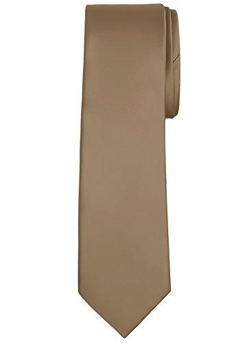 Tan Mens Tie - Jacob Alexander Solid Color Men's Regular Tie - Tan