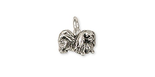 Pekingese Jewelry Sterling Silver Pekingese Charm Handmade Dog Jewelry (Pekingese Jewelry)