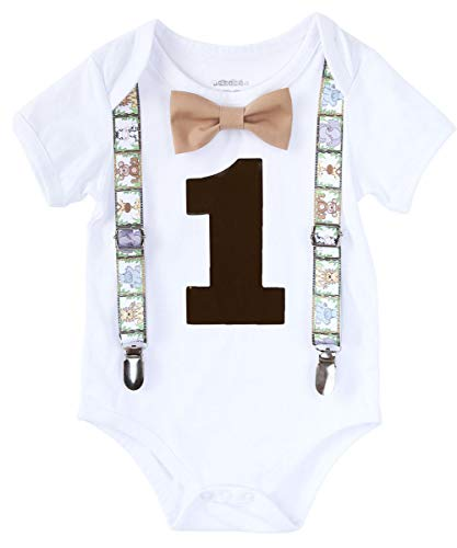 f6f1877ef Noah's Boytique Baby Boys First Birthday Jungle Safari Zoo Theme Party  Outfit