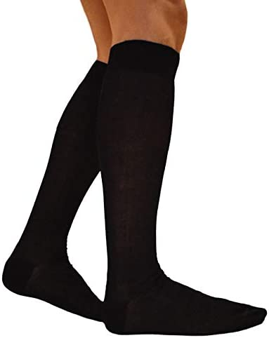 RV97 Calcetines de hombre largos de hilo de Escocia (7 pares: 6 + ...