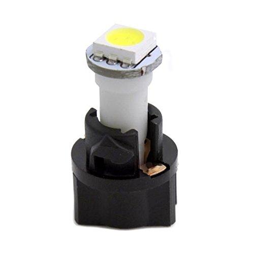 60x T5 74 Led Dashboard Speedometer Gauge Indicator Light: Partsam 10x White PC74 Twist Socket T5 Wedge 37 70 1-SMD