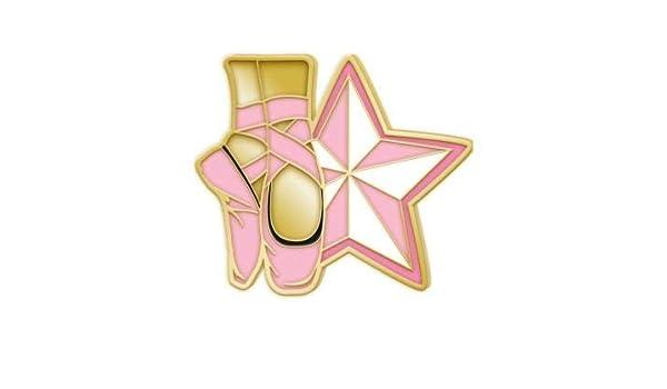 Pink Ballet Shoes Dance Lapel Pins Crown Awards Enamel Dance Pins